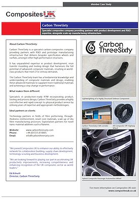 Composites UK welcome Carbon ThreeSixty with a New Member Profile